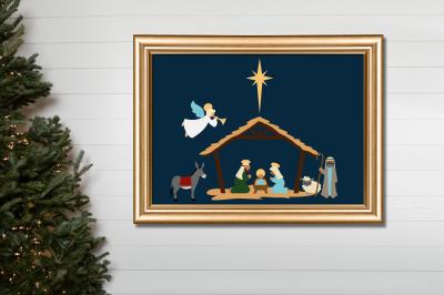 Christmas Nativity   SVG   PNG   DXF