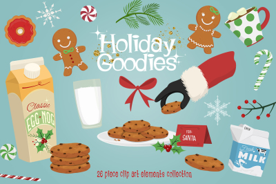 Holiday Goodies Cookies & Milk