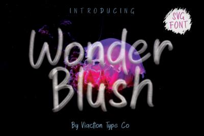 Wonder Blush - SVG Font