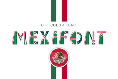 "OTF color font ""Mexifont"""