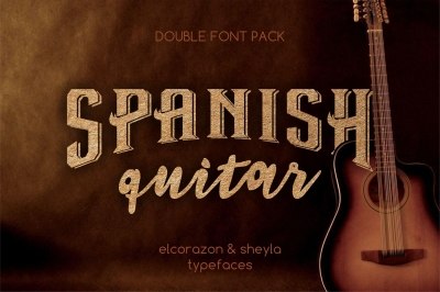 Double font set - Elcorazon & Sheyla typefaces
