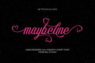maybeline script