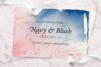 Navy & Blush Collection