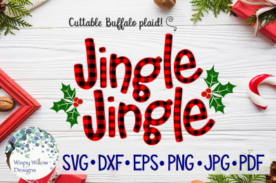 Jingle Jingle | Christmas Buffalo Plaid SVG