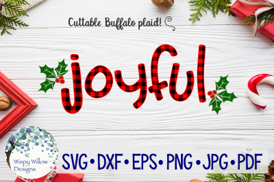 Joyful | Christmas Buffalo Plaid SVG