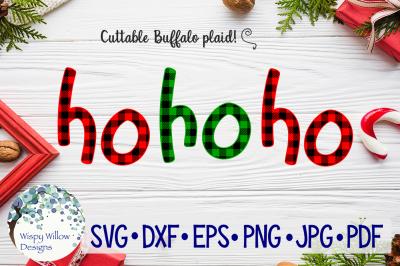 Ho Ho Ho | Christmas Buffalo Plaid SVG