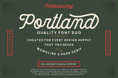 Portland Font Duo