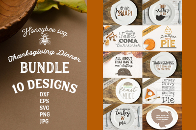 Thanksgiving Dinner SVG Bundle