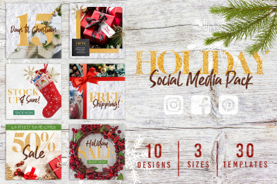 Canva Christmas Holiday Social Media Pack
