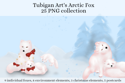 Tubigan Art's Arctic Fox for the holidays