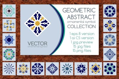 15 Geometric Ornamental Symbols