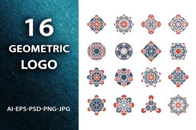 Geometric logo template set