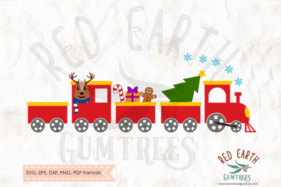 Christmas train set, Polar express in SVG,PNG,EPS,DXF, PDF formats