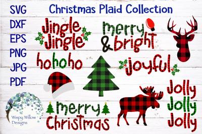 Christmas Plaid Bundle SVG