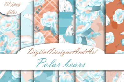 Cute polar bear papers