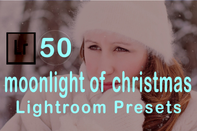 50 Moonlight of Christmas Lr Presets (90% Discount for Christmas)