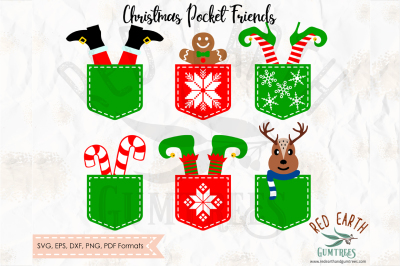 Christmas pocket friends bundle in SVG,DXF,PNG,EPS,PDF formats