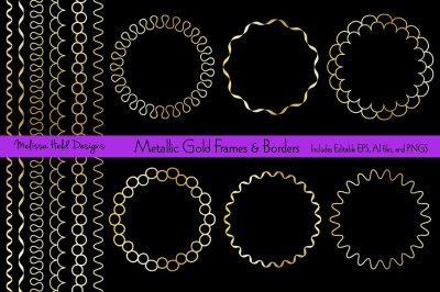 Gold Circle Frames and Borders