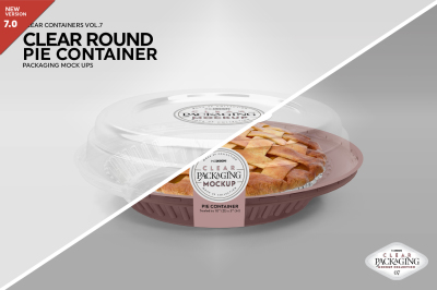 Clear Pie Container Packaging Mockup