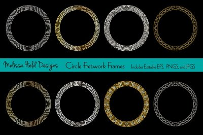 Circle Fretwork Frames