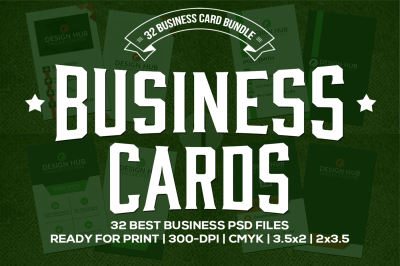 32 Business Cards Bundle