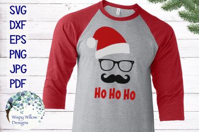 Hipster Santa | Ho Ho Ho | Christmas SVG