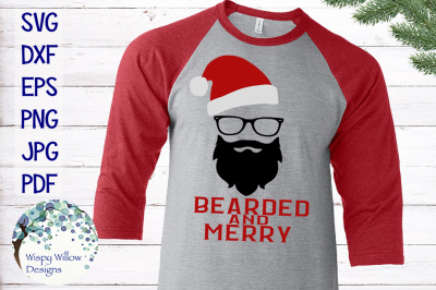 Hipster Santa | Bearded And Merry | Christmas SVG