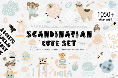 Scandinavian cute set