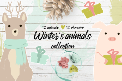 Winter's cute animals