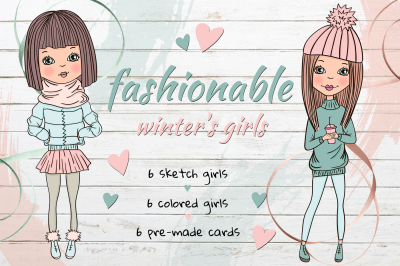 Fashionable winter's girls