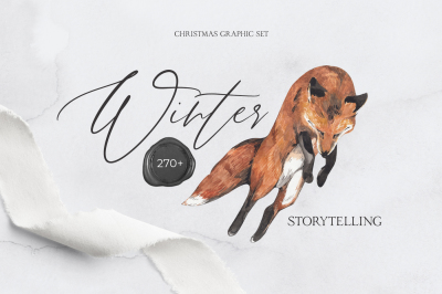 WINTER STORYTELLING Christmas watercolor collection