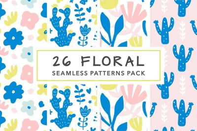 26 Bright & Cool Floral Patterns