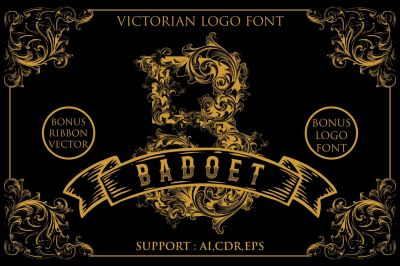 Badoet | Victorian Logo Fonts