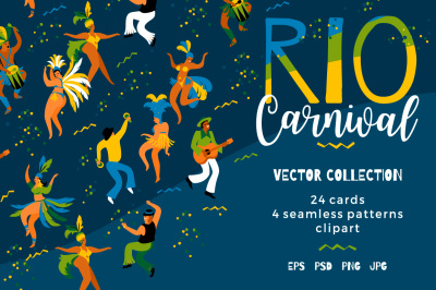 Rio carnival. Vector collection.