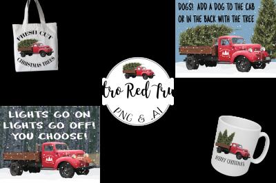Retro Red Truck