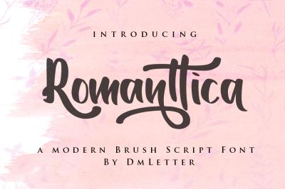 Romanttica - Modern Script Brush Font