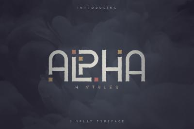 Alpha Display Font - 4 styles