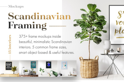 375+ Mockups - Scandinavian Framing