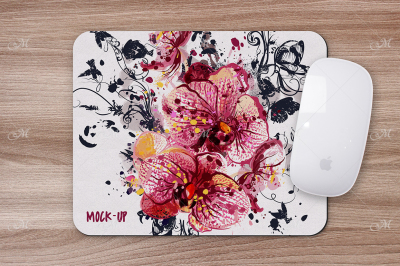 Mouse Pad Mock-up. PSD + JPEG + PNG
