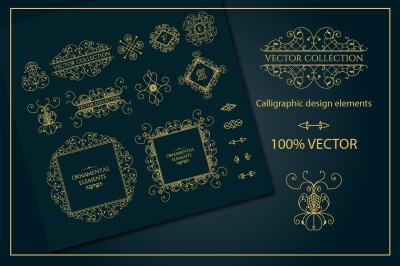 Vector vintage page decorations