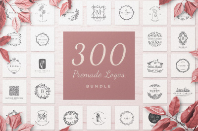 300 Premade Logo Bundle