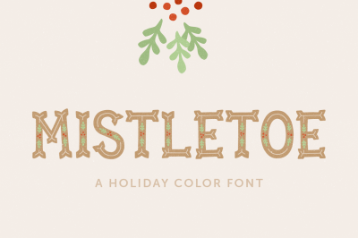 Mistletoe Color Font