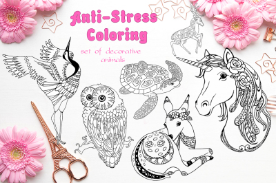 Anti-stress coloring