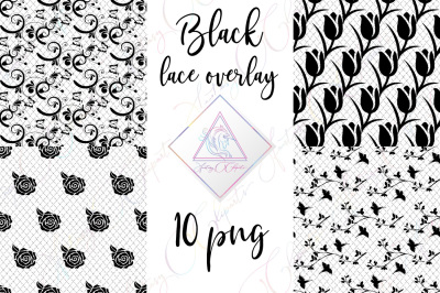 Black Lace Overlay Clipart