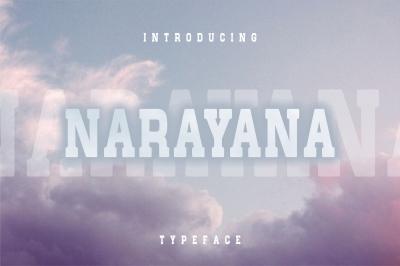 Narayana - typeface