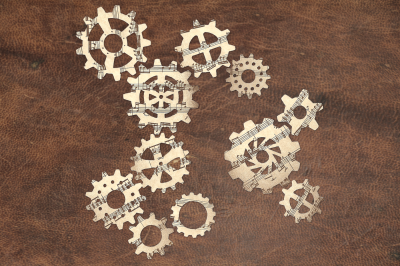 Steampunk Gear Set | SVG | PNG | DXF