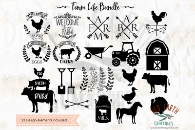 Farm life bundle in SVG,DXF,PNG,EPS,PDF formats