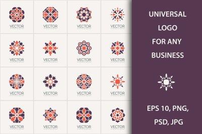 16 Geometric logo template set