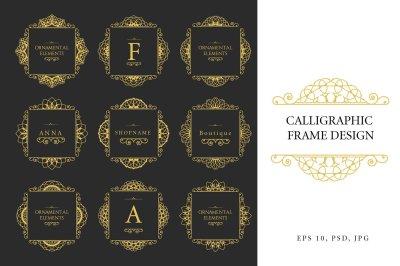 Calligraphic frame design