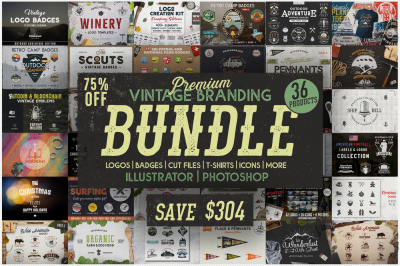 Vintage Branding Bundle / Cut Files / SVG Graphics Pack dxf